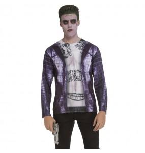 Disfraz Camiseta Joker Escuadrón Suicida adulto