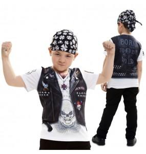 Disfraz camiseta Motorista para niño