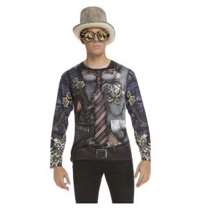 Disfraz Camiseta Steampunk adulto