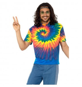 Disfraz Camiseta tie-dye Hippie