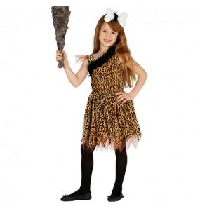 Disfraz Cavernícola Primitiva para niña