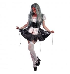 Disfraz de Criada Zombie para mujer