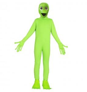 Disfraz de Alíen Verde DAME TU COSITA para niños