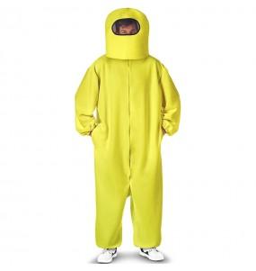 Disfraz de Among Us amarillo para adulto