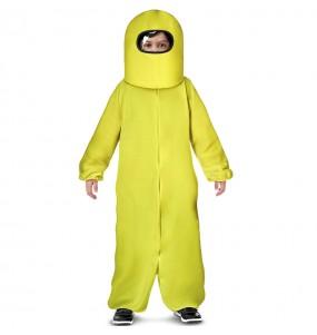 Disfraz de Among Us amarillo para niño