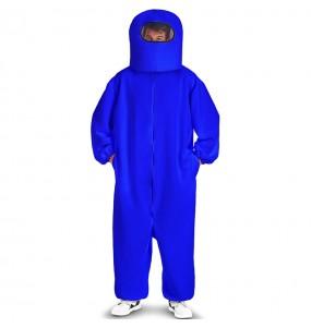 Disfraz de Among Us azul para adulto