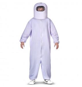 Disfraz de Among Us blanco para adulto