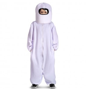 Disfraz de Among Us blanco para niño