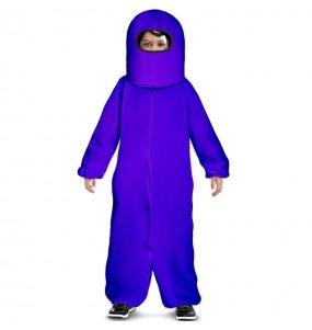 Disfraz de Among Us morado para niño