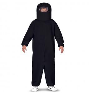 Disfraz de Among Us negro para adulto