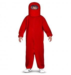 Disfraz de Among Us rojo para adulto