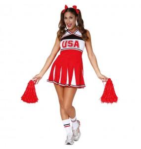 Disfraz de Animadora Cheerleader para mujer