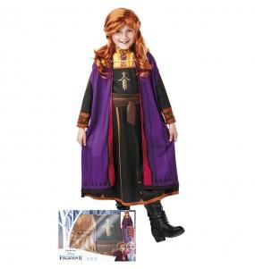 Disfraz de Anna Frozen con peluca para niña