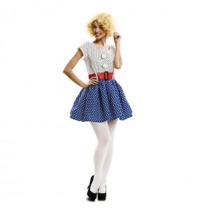 Disfraz de Años 70 Pop Art para mujer