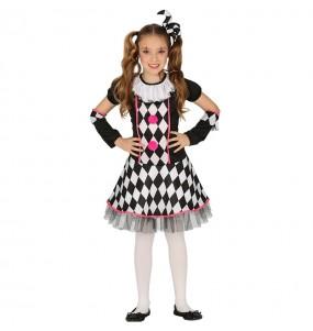 Disfraz de Arlequina Circo para niña