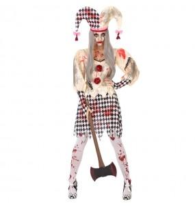 Disfraz de Arlequina Sangrienta para mujer