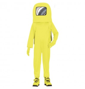Disfraz de Astronauta Among us amarillo para niño