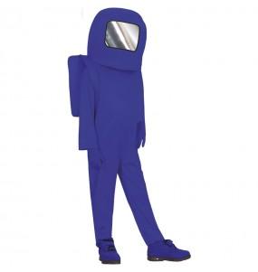 Disfraz de Astronauta Among us azul para niño