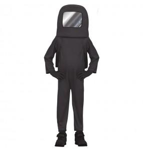 Disfraz de Astronauta Among us negro para niño