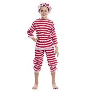 Disfraz de Bañista Antigua para niña