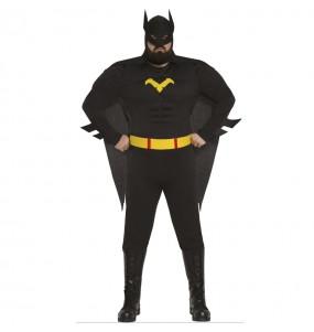 Disfraz de Bat Hero con Músculos adulto