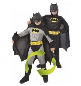 Disfraz de Batman musculoso reversible para niño