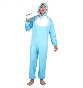 Disfraz de Bebé Azul para hombre