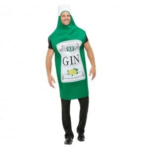 Disfraz de Botella Ginebra para adulto