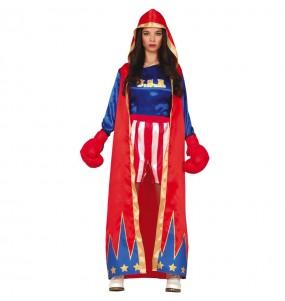Disfraz de Boxeadora estadounidense para mujer