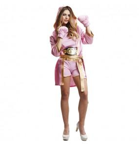 Disfraz de Boxeadora Rosa para mujer