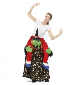 Disfraz de Bruja Halloween a hombros para adulto