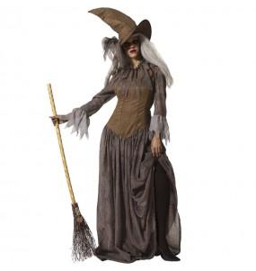Disfraz de Bruja marrón para mujer
