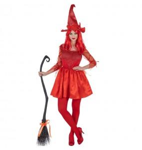 Disfraz de Bruja Roja para mujer