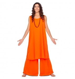 Disfraz de Budista Hare Krishna para mujer