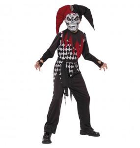 Disfraz de Bufón Malvado para niño