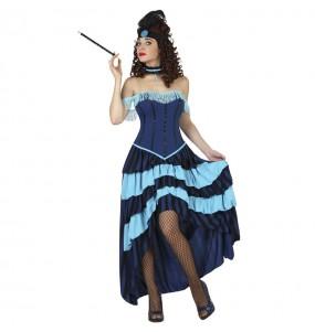 Disfraz de Cabaret azul para mujer