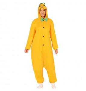 Disfraz de Calabaza Halloween Kigurumi adulto