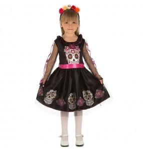 Disfraz de Calavera Día de los muertos para niña