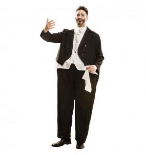 Disfraz de Cantante Ópera Pavarotti Gordinflón para adulto