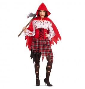 Disfraz de Caperucita roja sangrienta para mujer