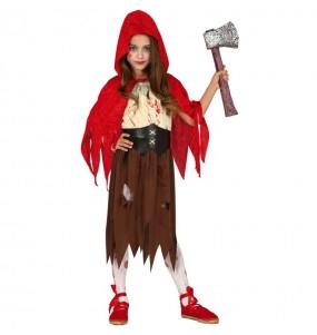 Disfraz de Caperucita Zombie para niña