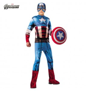 Disfraz de Capitán América Los Vengadores para niño