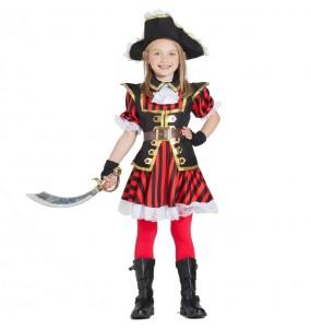 Disfraz de Capitán Pirata para niña