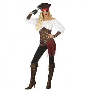 Disfraz de Capitana barco pirata para mujer