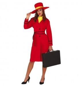 Disfraz de Carmen Sandiego para mujer