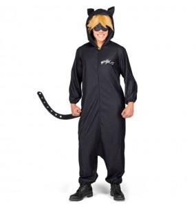 Disfraz de Cat Noir Kigurumi para hombre