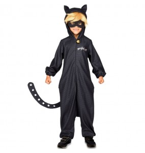Disfraz de Cat Noir Kigurumi para niño