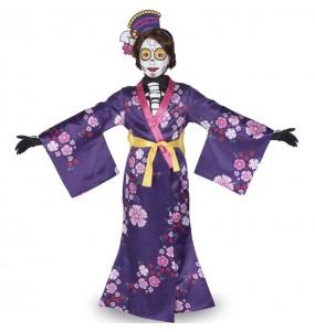 Disfraz de Catrina Mariko para niña