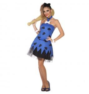 Disfraz de Cavernícola Picapiedra Azul para mujer