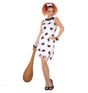Disfraz de Cavernícola Picapiedra Blanco para mujer